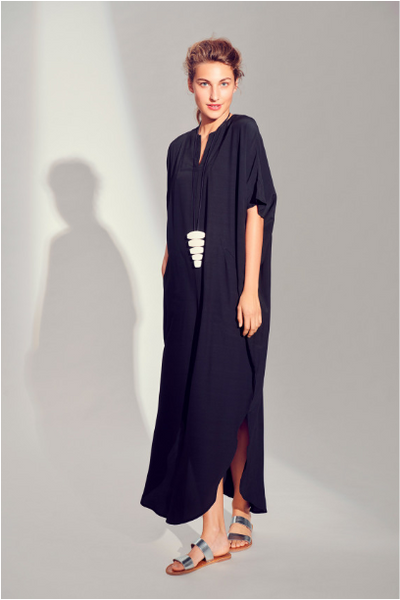 BITTE KAI RAND WHIRLING VISCOSE LONG DRESS - BLACK 121440039