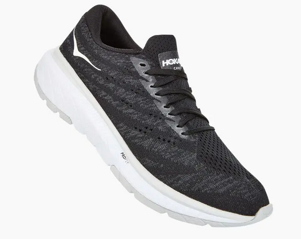HOKA ONE ONE CAVU 3 BLACK AND WHITE  - 1106482BWHT