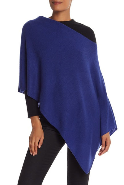 *SALE* IN CASHMERE CASHMERE TOPPER - BLUE - NFC8838GBL