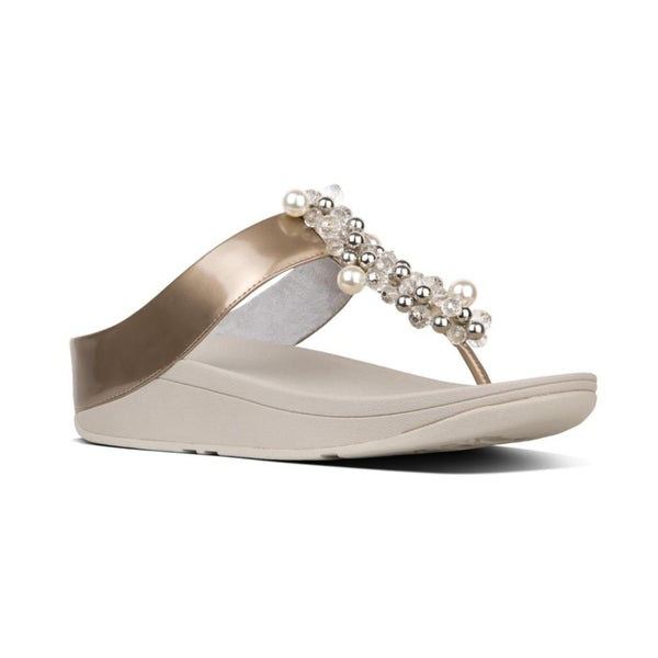 FIT FLOP DECO TOE THONG SILVER - N46011