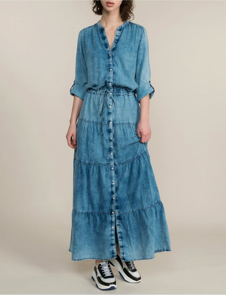 SUMMUM DENIM MAXI DRESS - 11158487