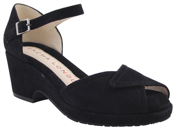 SACHA LONDON DIVA BLACK SUEDE - DIVA01