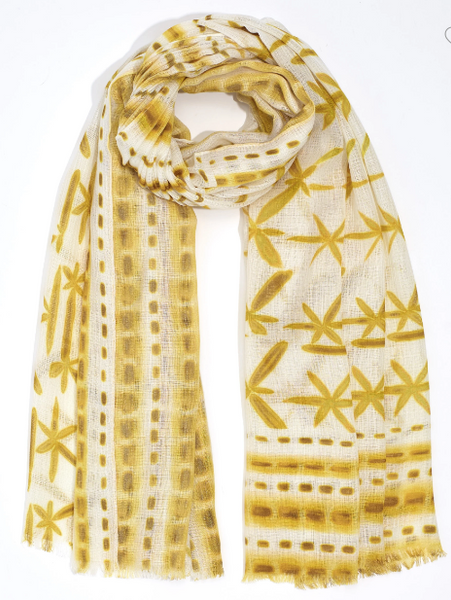 *SALE* SHIBORI PAREO SCARF YELLOW
