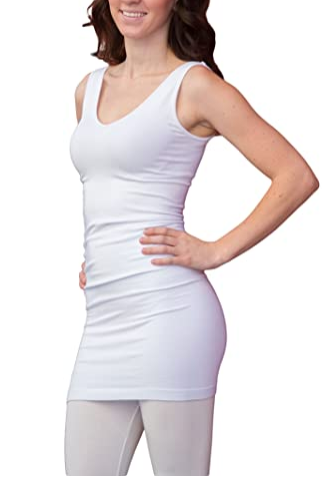 ELIETIAN V-NECK SCOOP LONG - ET1004WHT