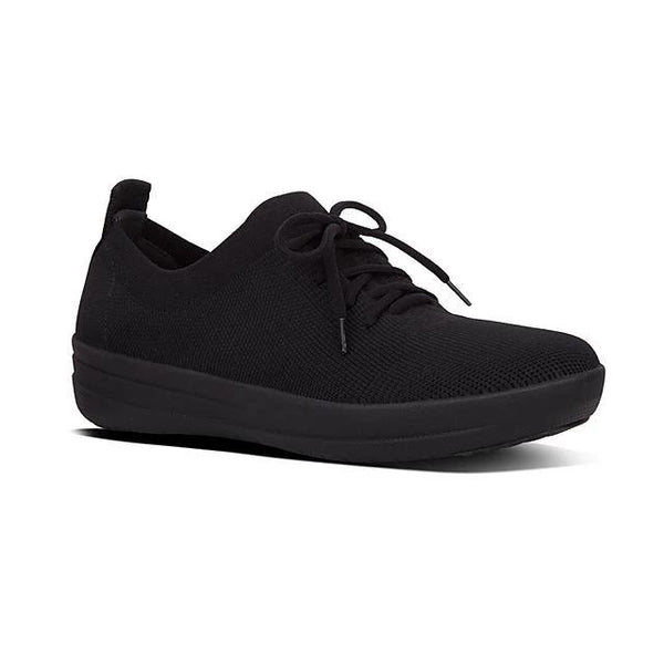 FIT FLOP F SPORTY UBERKNIT SNEAKER ALL BLACK - O96090