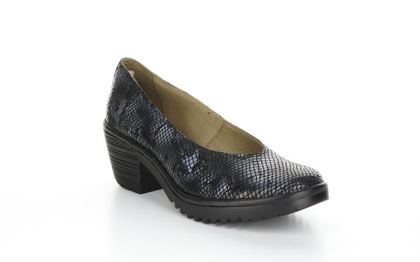 *SALE* FLY LONDON WALO SNAKE BLACK - WALOBKS