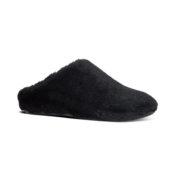 *FINAL SALE* FIT FLOP FURRY SLIPPERS BLACK  - Y19090