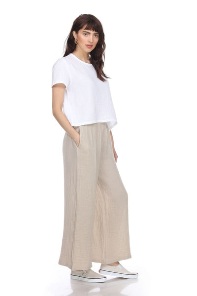 HONEST COTTON LONG PALAZZO PANT - P300LCCEC