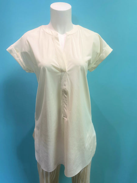 LYSSE VIOLA S/S TUNIC OFF WHITE- 2503158