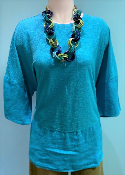 *SALE* CUT LOOSE BOXY TOP BALI TURQUOISE- 5706693BALI