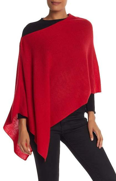 *SALE* IN CASHMERE CASHMERE TOPPER - ROUGE RED - NFC8838RGE