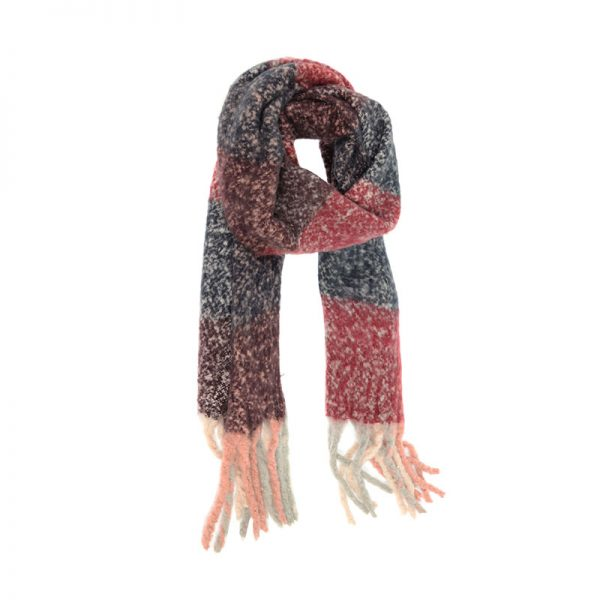 JOY ACCESSORIES SCARF NAVY BERRY - J422607