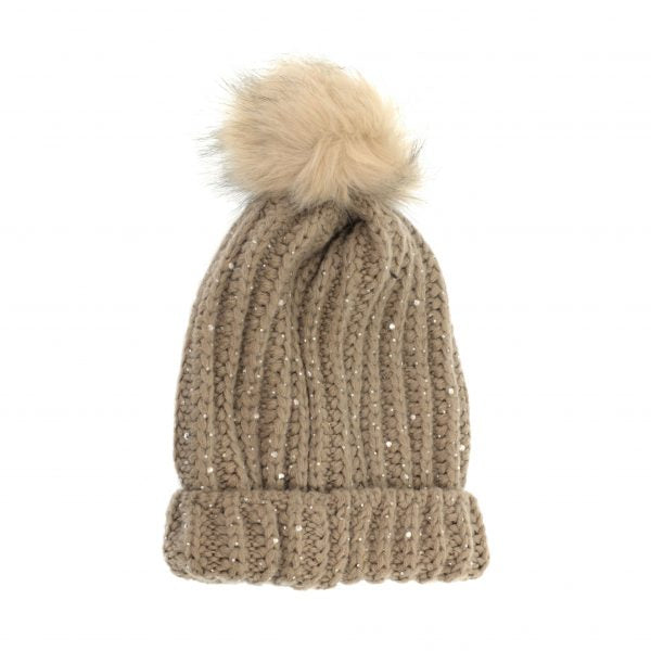 JOY ACCESSORIES HAT W/POM SPARKLE - G987202