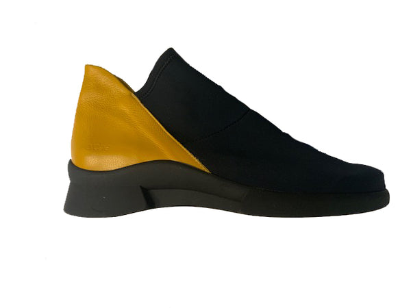 ARCHE KYTELL BLACK AND MUSTARD - KYTELL
