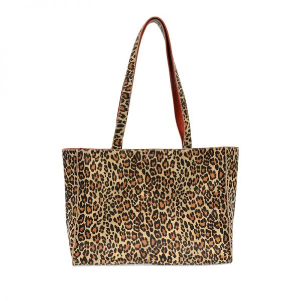 JOY ACCESSORIES REVERSIBLE TOTE - LEOPARD OR RED - L809105