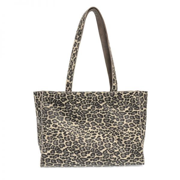 JOY ACCESSORIES REVERSIBLE TOTE - LEOPARD OR GREY - L809110