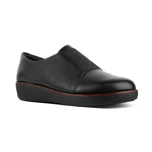 FITFLOP LACELESS DERBY BLACK - N76001