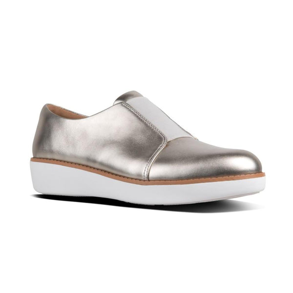 FITFLOP LACELESS ELASTIC DERBY SILVER - N78011