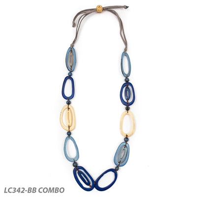 TAGUA EMILY NECKLACE BLUE - LC342BB