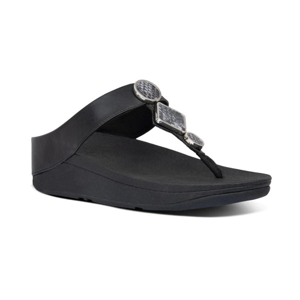 !NEW! FIT FLOP LEIA TOE THONG BLACK - AI5090