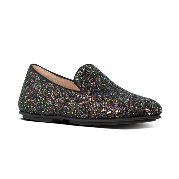 FIT FLOP LENA GLITTER LOAFER BLACK MULTI - W97090