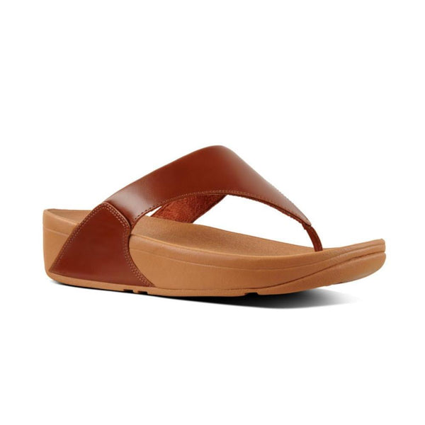 FITFLOP LULU LEATHER COGNAC TOEPOST - I88552