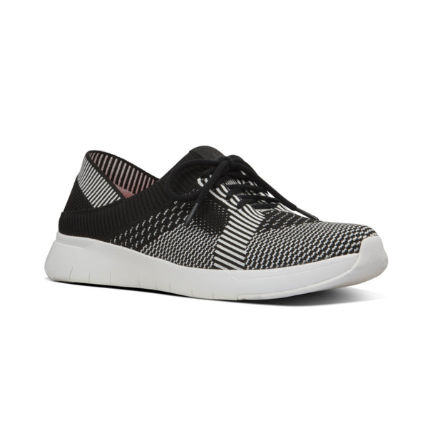 FIT FLOP MARBLEKNIT SNEAKER BLACK AND WHITE - X09429