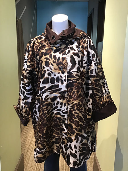 *SALE* OOPERA REVERSABLE RAINCOAT W/ HOOD - LEOPARD - J2039RW2