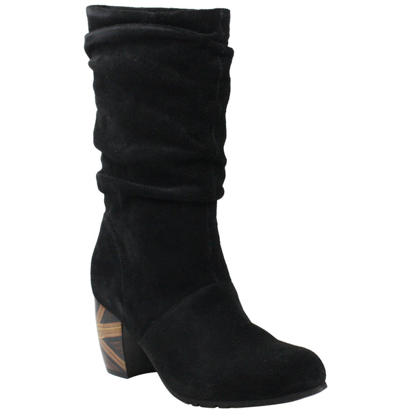 L'AMOUR DES PIEDS PAMBY BLACK SUEDE - PAMBY1