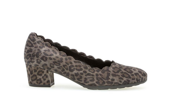 *SALE* GABOR PUMP - LEOPARD ANTHRACITE - 5221160