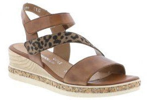 RIEKER  D305424 LEOPARD BROWN - D305424