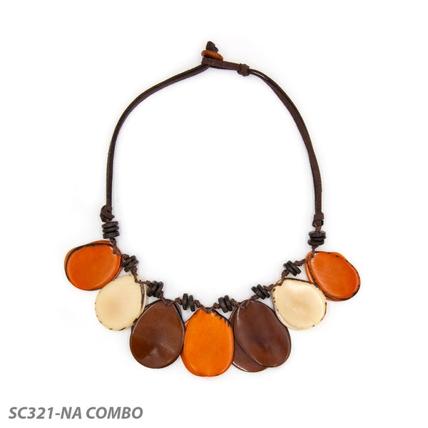 *SALE* TAGUA ADRIANA NECKLACE NATURAL MULTI - SC321NA