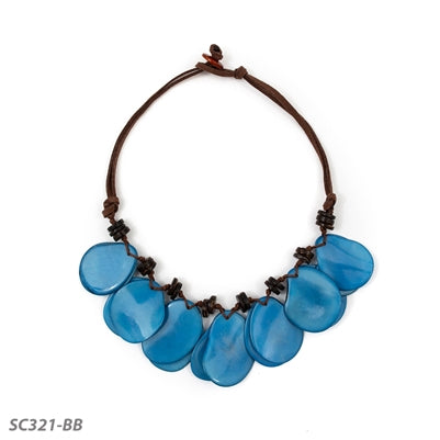 TAGUA ADRIANA NECKLACE BLUE - SC321BB