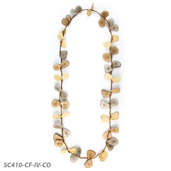*SALE* TAGUA SLICE NECKLACE - IVORY MIX - SC410CFIV