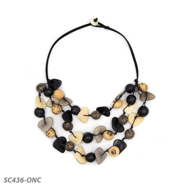 TAGUA GISELL NECKLACE - ONYX COMBO - SC436ONC