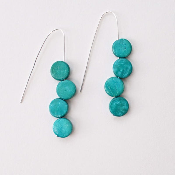 SYLCA EVA DANGLE EARRINGS - TURQUOISE - SD18E50TUR