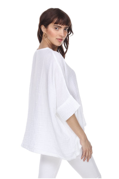HONEST COTTON KENNEDY TUNIC - WHITE - T112CCWHT