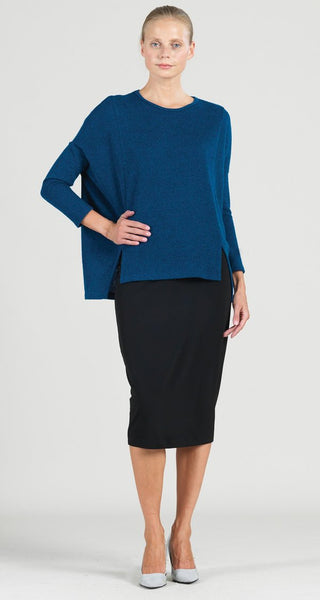 CLARA SUN WOO SWEATER TUNIC - BLUE - T199W5