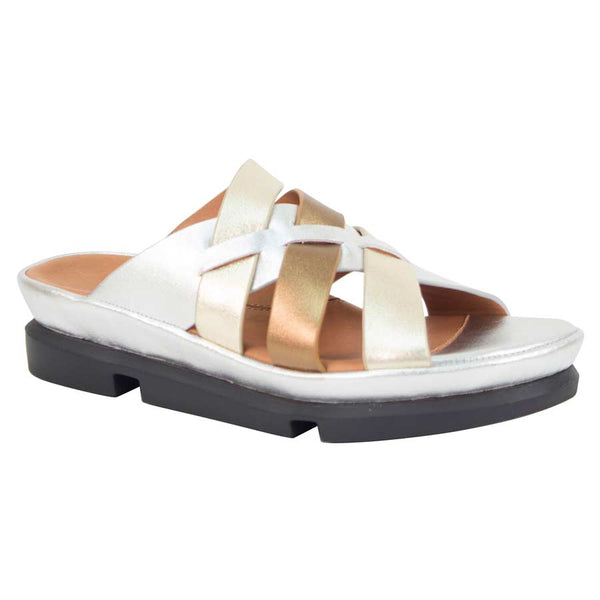 L'AMOUR DES PIEDS VERYL SILVER AND GOLD NAPPA - VERYL1