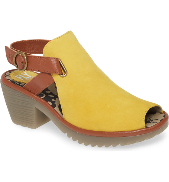 !NEW! FLY LONDON WENA CUPIDO YELLOW - WENAYEL