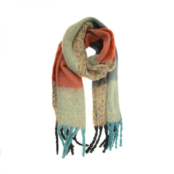 JOY ACCESSORIES SCARF CORAL BLOCK - E313532