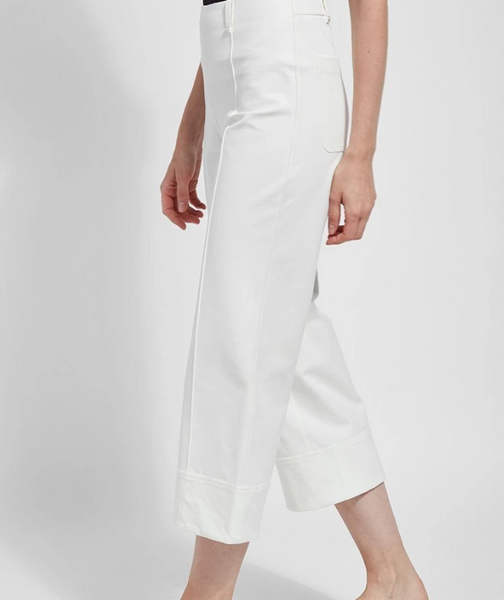 *SALE* LYSSE GIORGIA WIDE LEG PANT OFF WHITE  - 2460158