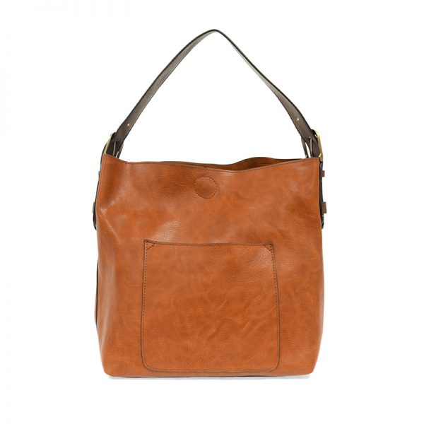 JOY ACCESSORIES CLASSIC HOBO HANDBAG CHESTNUT - L800879