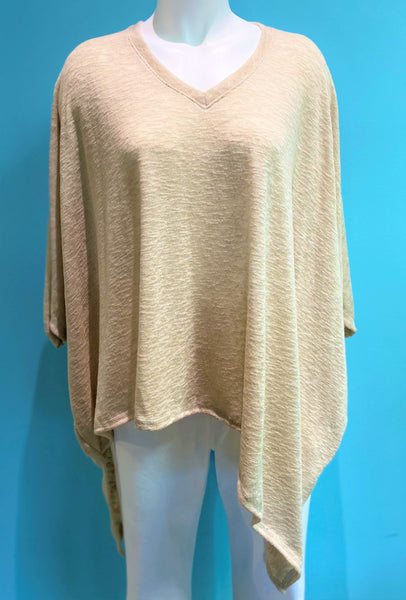 NALLY & MILLIE PONCHO TAN- N285379