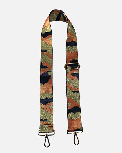AHDORNED CAMO STRAP - ORANGE & NAVY - BSGH143NVYORGGLD