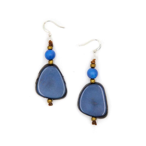 TAGUA ALMA EARRINGS - BLUE - 1E800BB