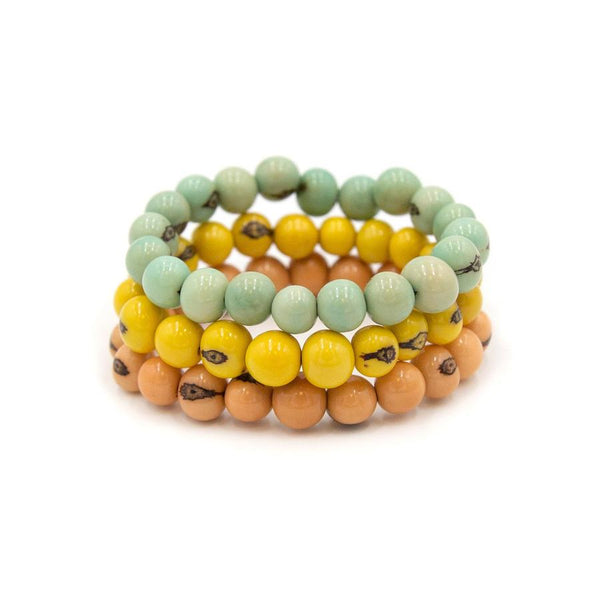 TAGUA STACKABLE BRACELET - 1B700PCHCELESTEAM