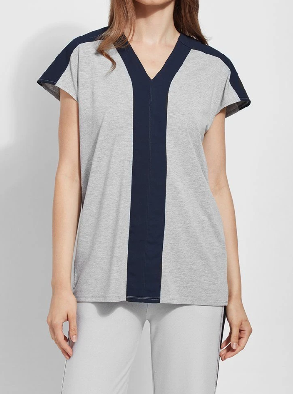 LYSSE YARROW TOP GREY - 2404031