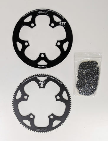92T Chainring with CNC Chainguard and chain for CARRYME