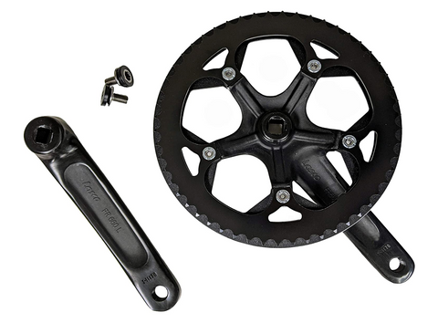 Lasco 52T crank set, 170 forged arms CNC aluminum chain guard for ebikes and folding bicycles